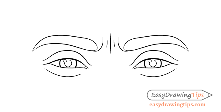 Happy eyes line drawing