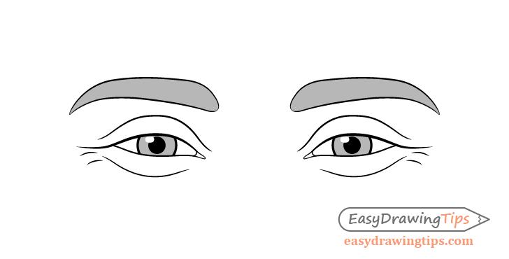 Happy eyes drawing