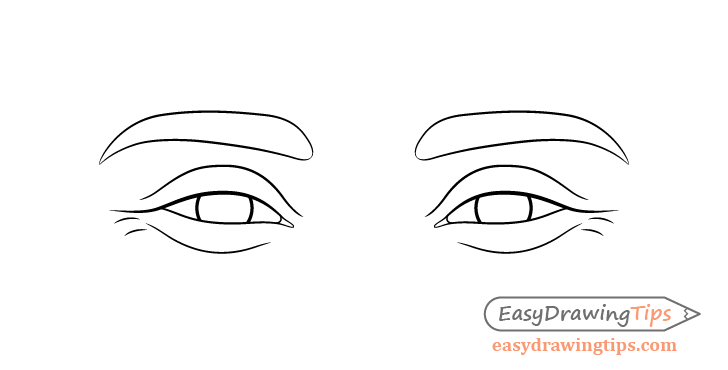 Happy eyes eyelids drawing
