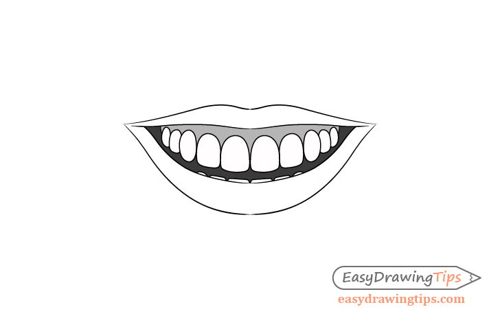 Smile gums shading