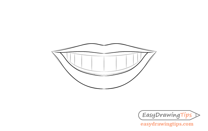 Smile lips details drawing