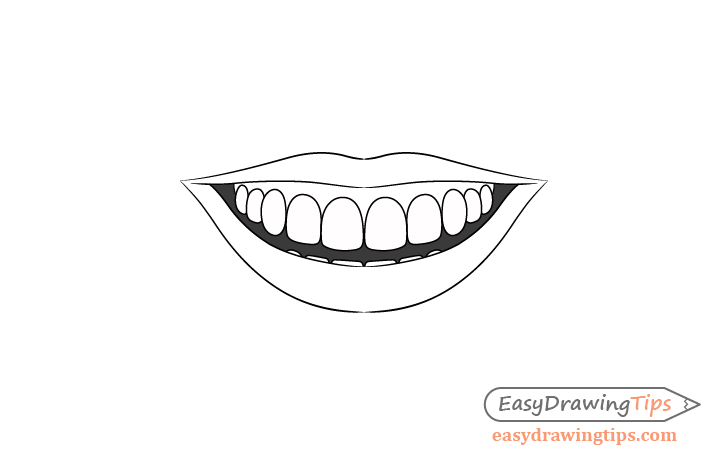 Smile mouth shading