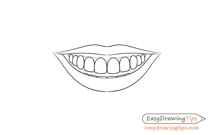 Smile teeth drawing