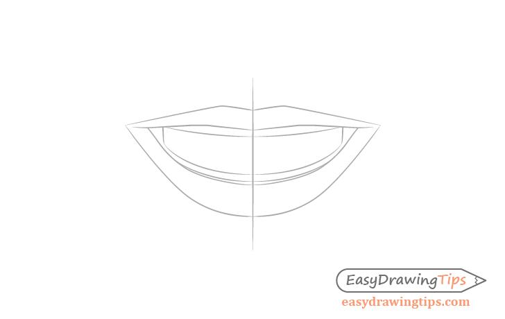 Smile teeth outline drawing