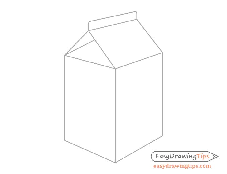 Milk carton fold drawing