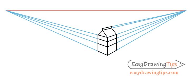 Milk carton label perspective drawing