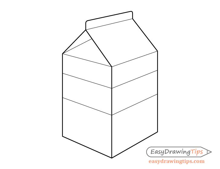 Milk carton line drawing