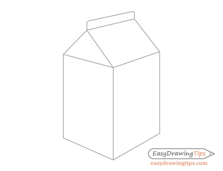 Milk carton outline drawing