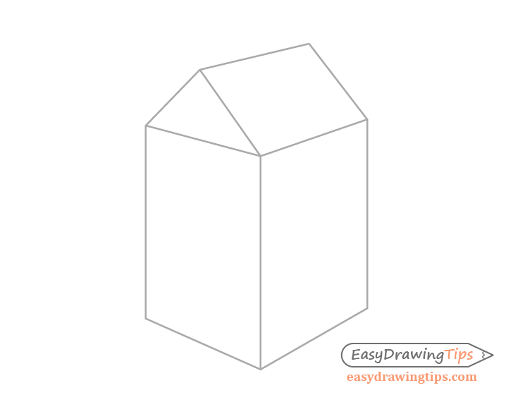 Milk carton side drawing