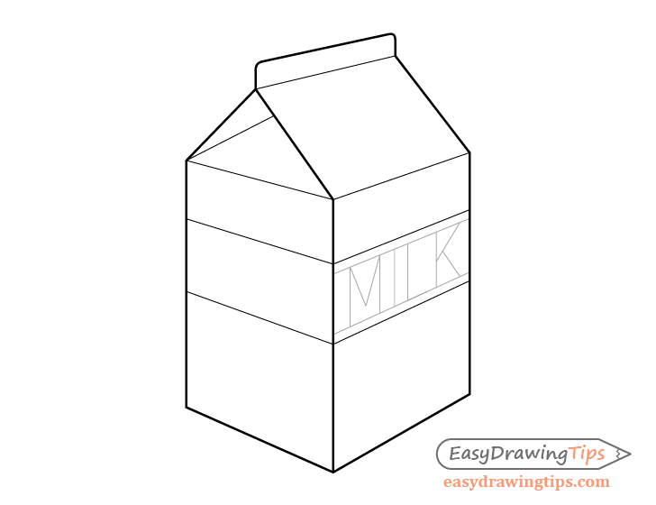 Milk carton text drawing