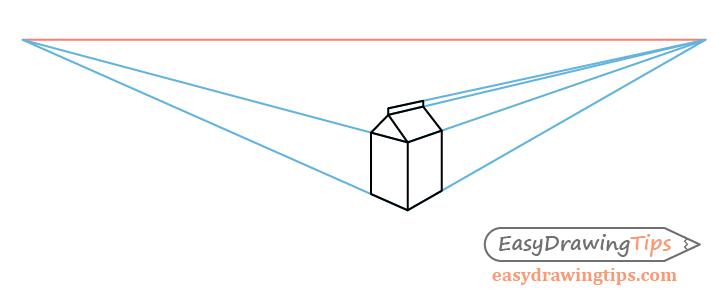 Milk carton top perspective drawing
