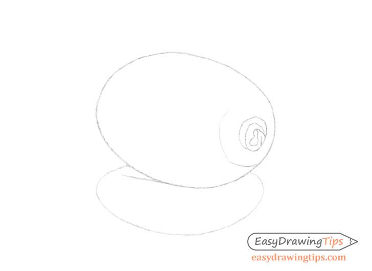 Kiwi line drawing