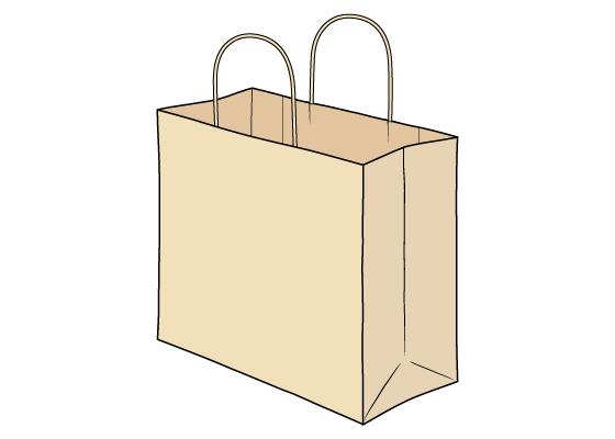Shopping bag drawing tutorial
